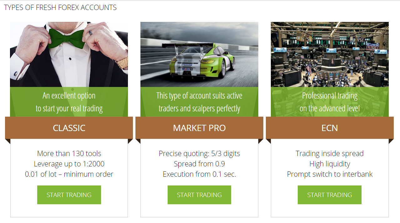 Freshforex account