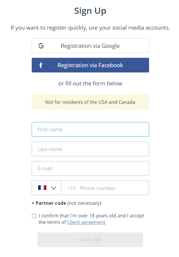weltrade registration form